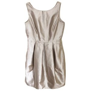 White House Black Market Gold Fit and Flare Dress